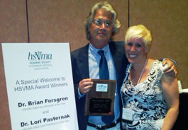 2010 HSVMA award winners, Drs. Forsgren and Pasternak