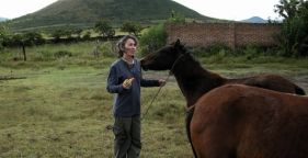 Cindy with horses
