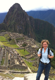HSVMA-RAVS International volunteer, Mary Lindhal, at Machu Picchu