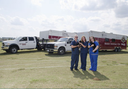 Mississippi State University's two mobile spay/neuter units