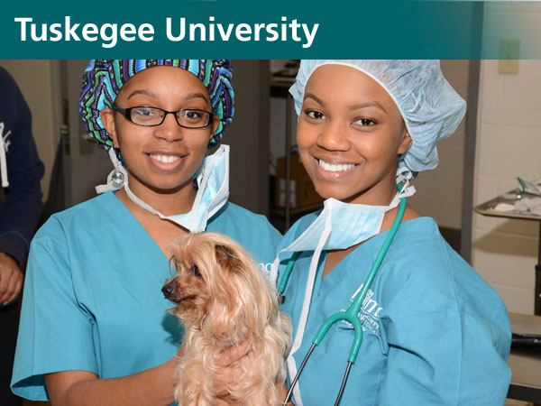 Tuskegee University World Spay Day 2016 volunteers with one of the 20 patients they spayed/neutered